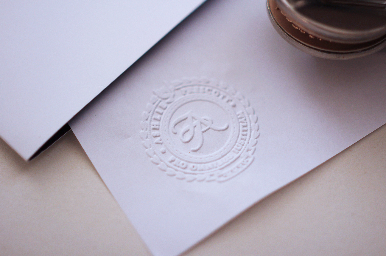 AP family law and mediation logo design embossing